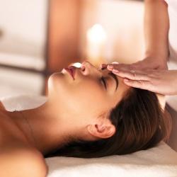 massage du front